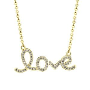 ‼️$50 FIRM! 14k GP Love Necklace